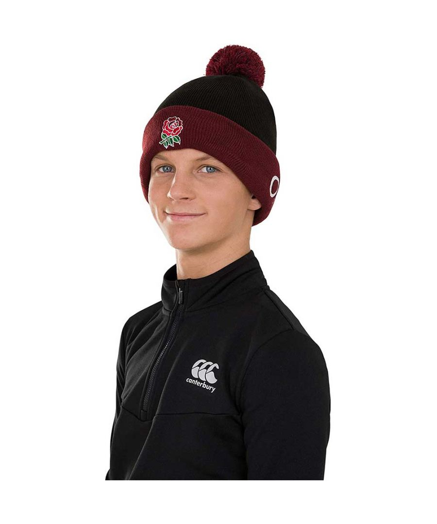 Image for Canterbury Mens England Rugby Acrylic Bobble Hat