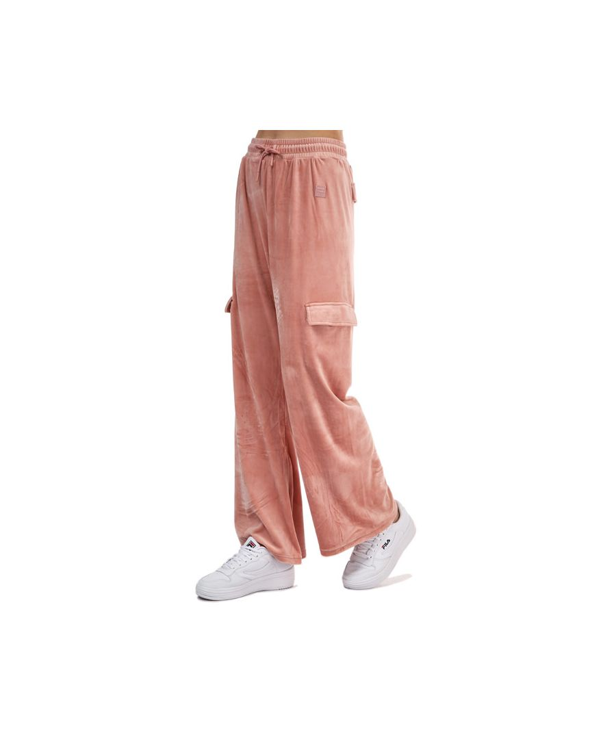 Image for Women's Fila Amrita Velour Cargo Jog Pants in Rose
