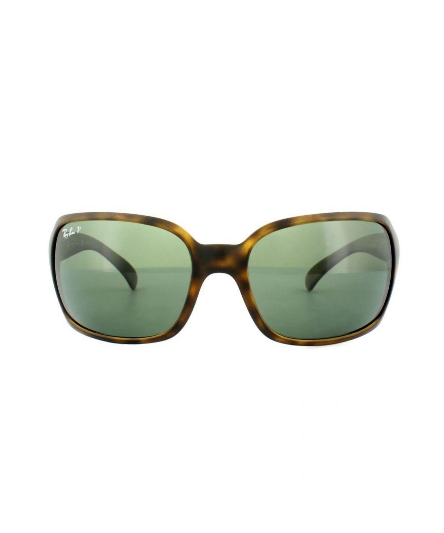 Image for Ray-Ban Sunglasses 4068 894/58 Tortoise Green G-15 Polarized