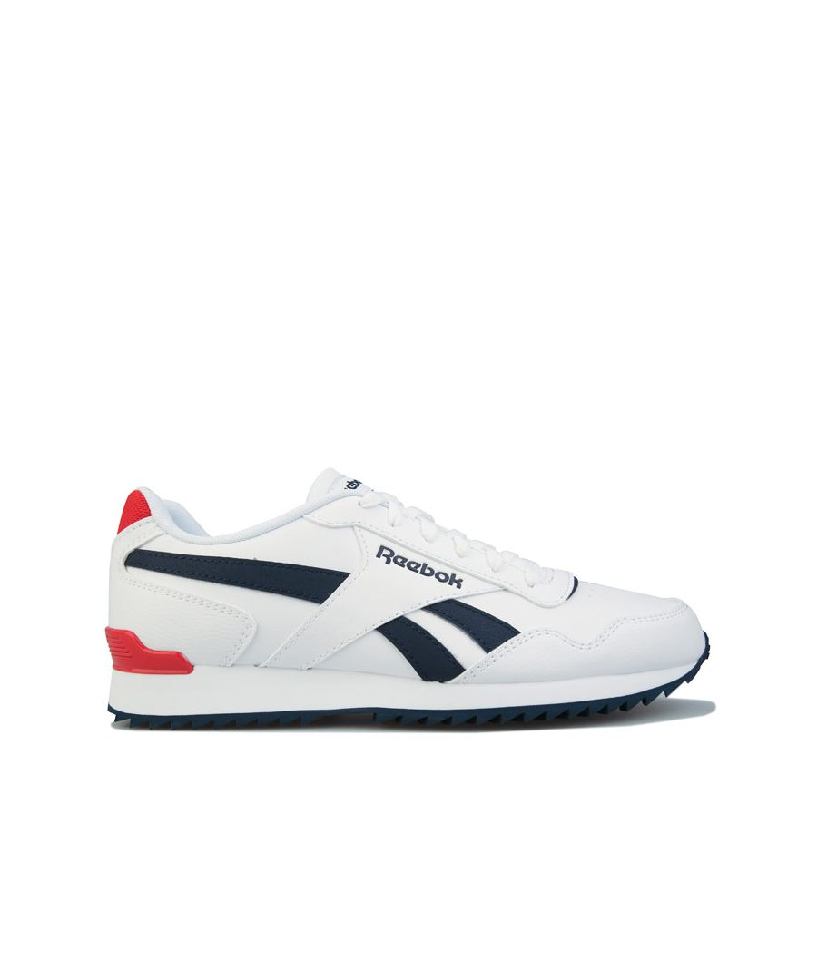 Image for Men's Reebok Classics Royal Glide Ripple Clip Trainers in White Navy