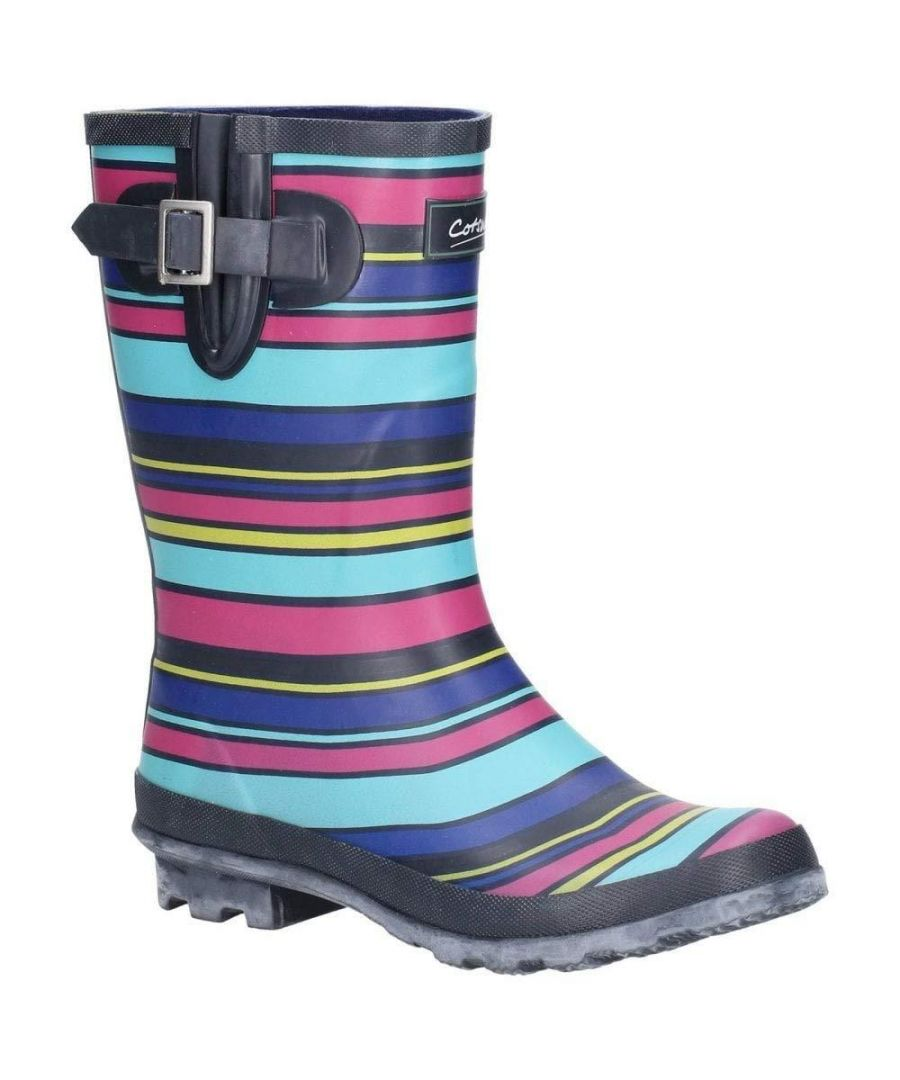 Image for Cotswold Womens/Ladies Paxford Elasticated Mid Calf Wellington Boot (Multicolour/Stripe)