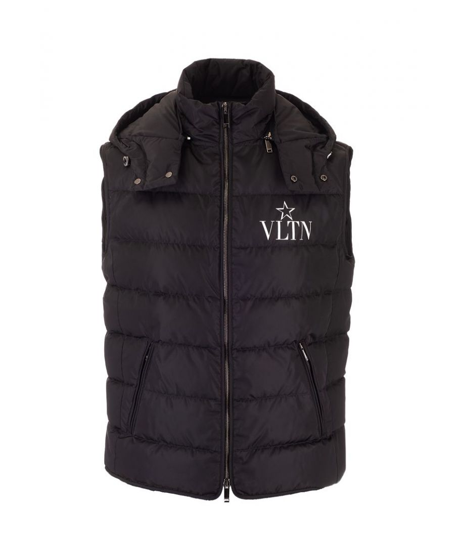 Image for VALENTINO MEN'S TV3CQA105W60NI BLACK POLYESTER VEST