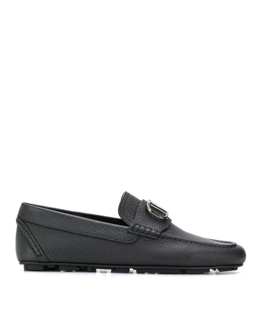 Image for VALENTINO MEN'S TY2S0C32YST0NO BLACK LEATHER LOAFERS