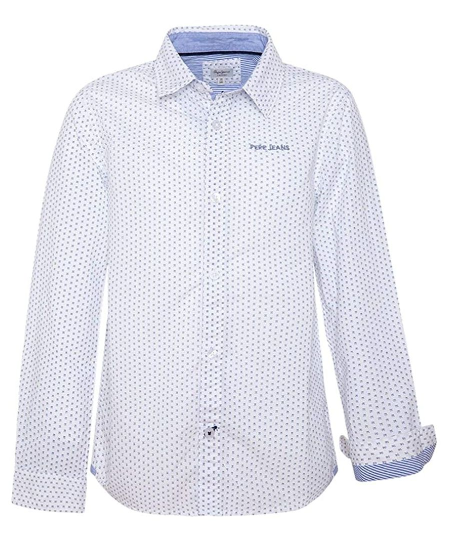 Image for Pepe Jeans Boys Shirt in White/Blue
