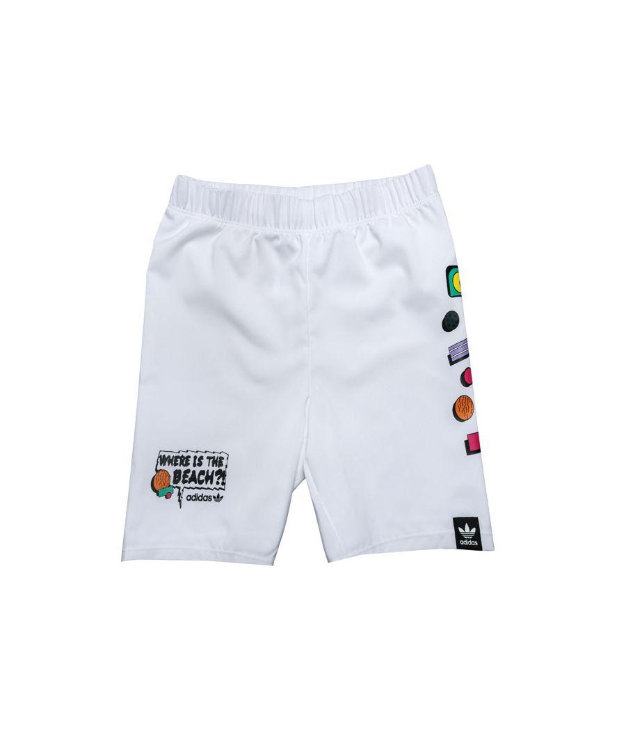 Image for Boy's adidas Originals Baby Memories Swim Short in White