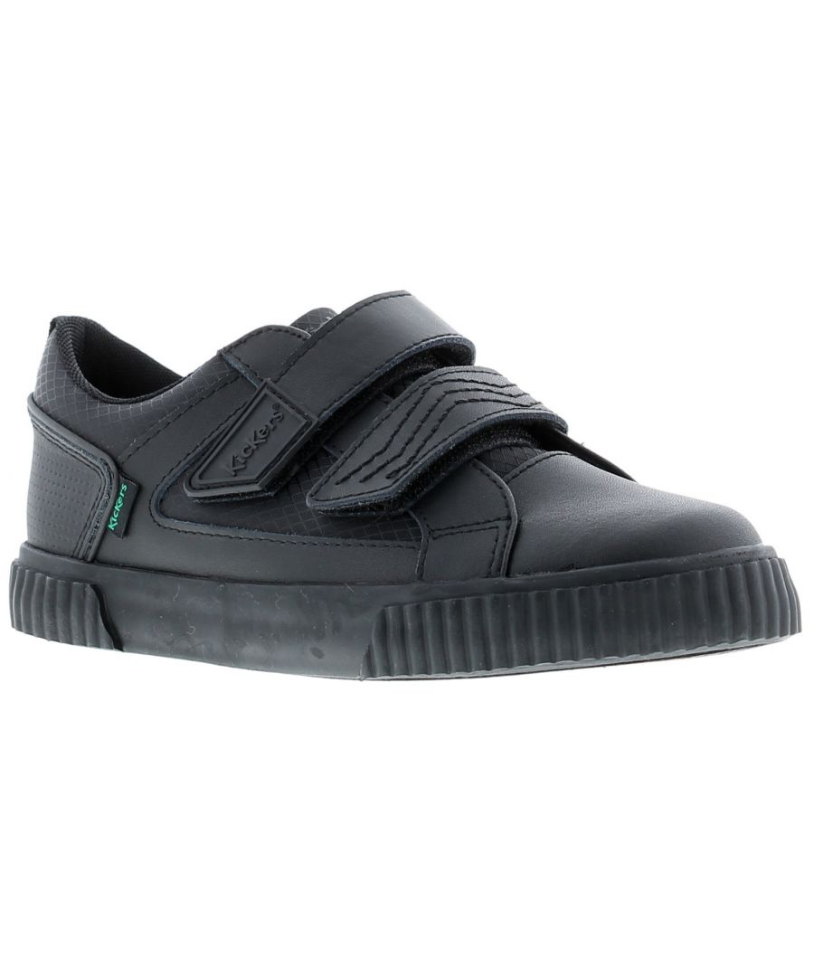 Image for Kickers tovni twin flex leather Younger Boys School Shoes & Trainers