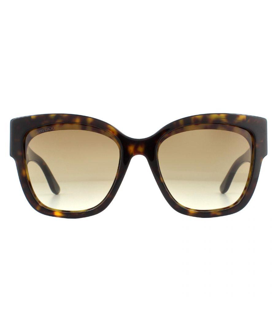 Image for Jimmy Choo Sunglasses Roxie 086 Dark Havana Brown Gradient