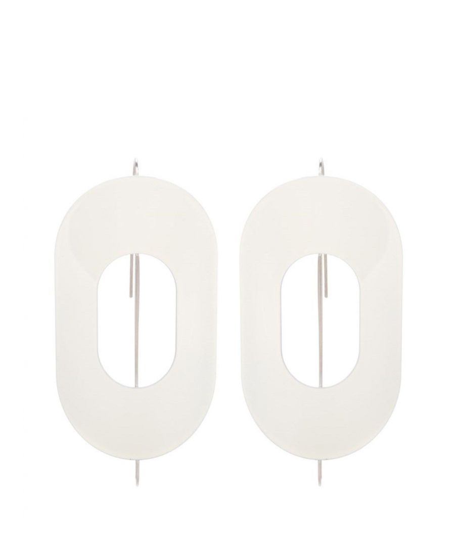 Image for MARNI WOMEN'S ORMVZ01A00M200000W01 WHITE METAL EARRINGS