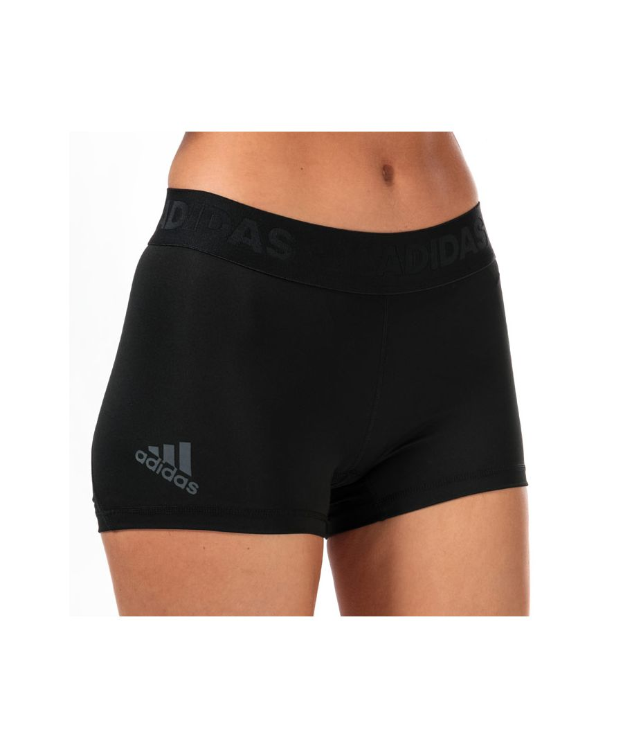 Image for Women's adidas Alphaskin Sport Short Tights Black 12-14in Black