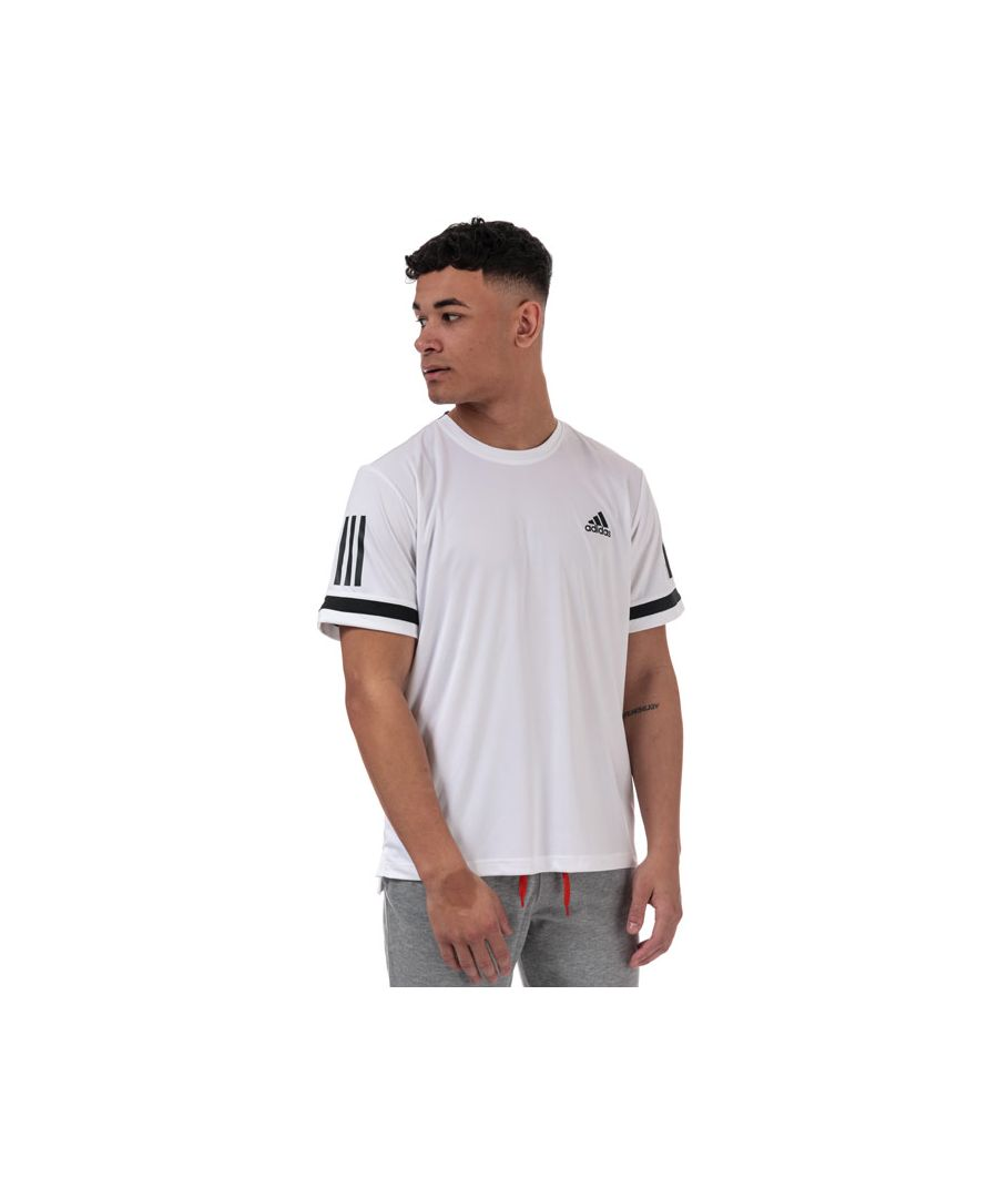 Image for Men's adidas 3-Stripes Club T-Shirt in White