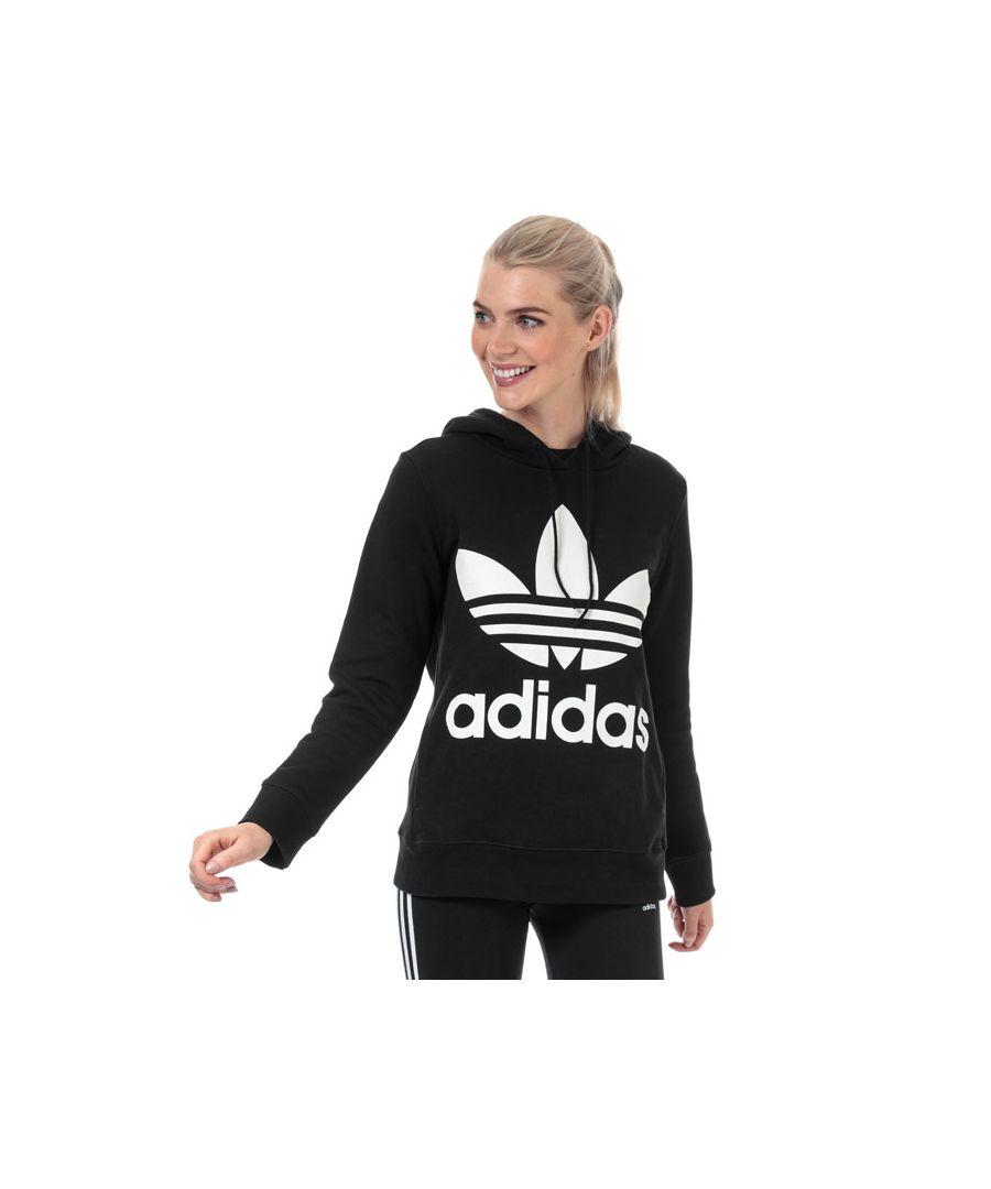 Image for Women's adidas Originals Trefoil Hoodie in Black