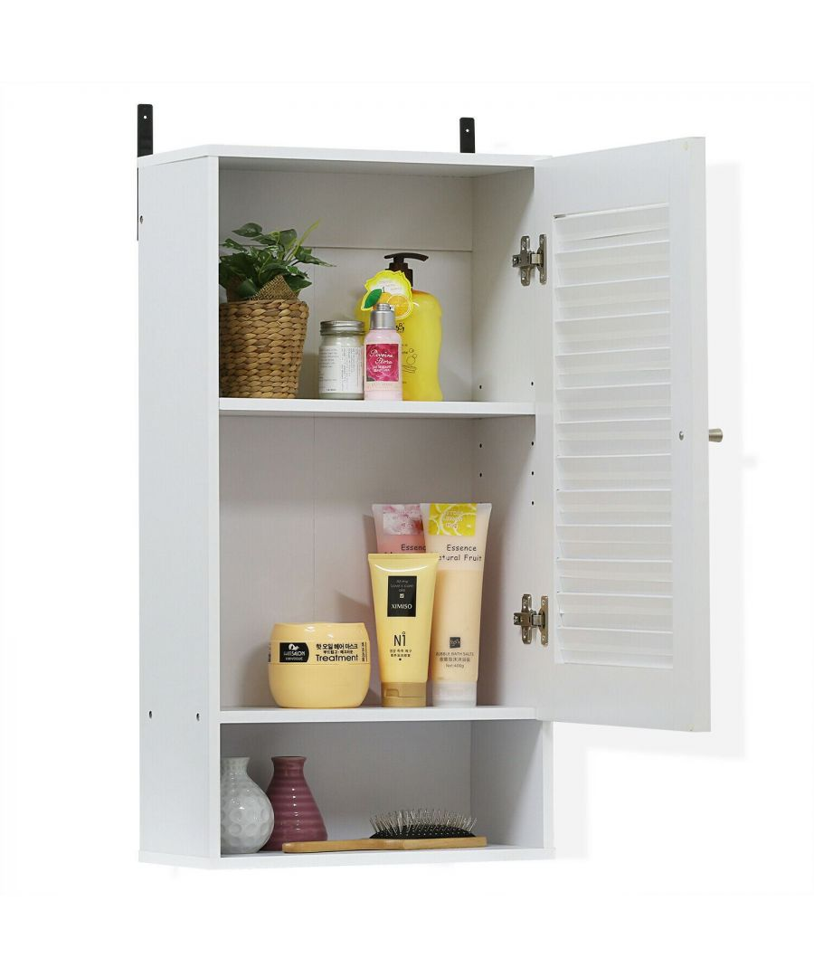 Image for Furinno Indo Wide Wall Cabinet, White