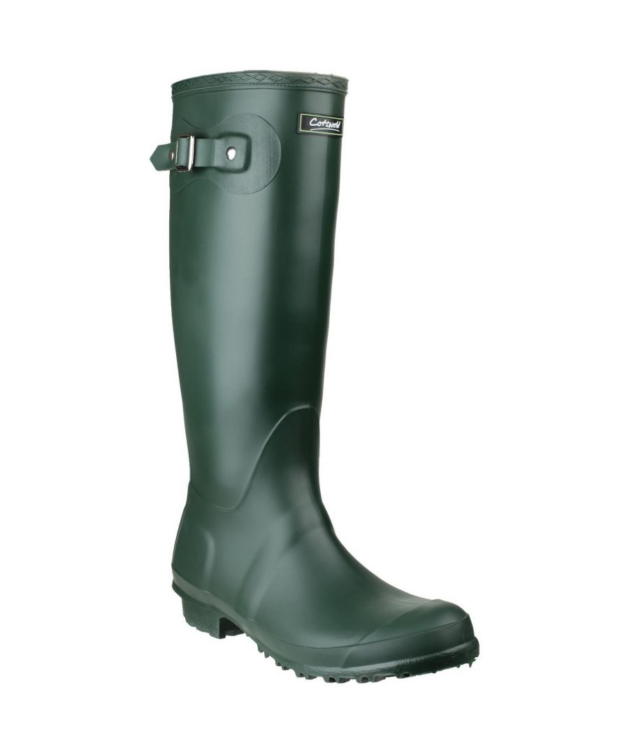 Image for Cotswold Sandringham Buckle-Up Womens Wellington Boots (Green)