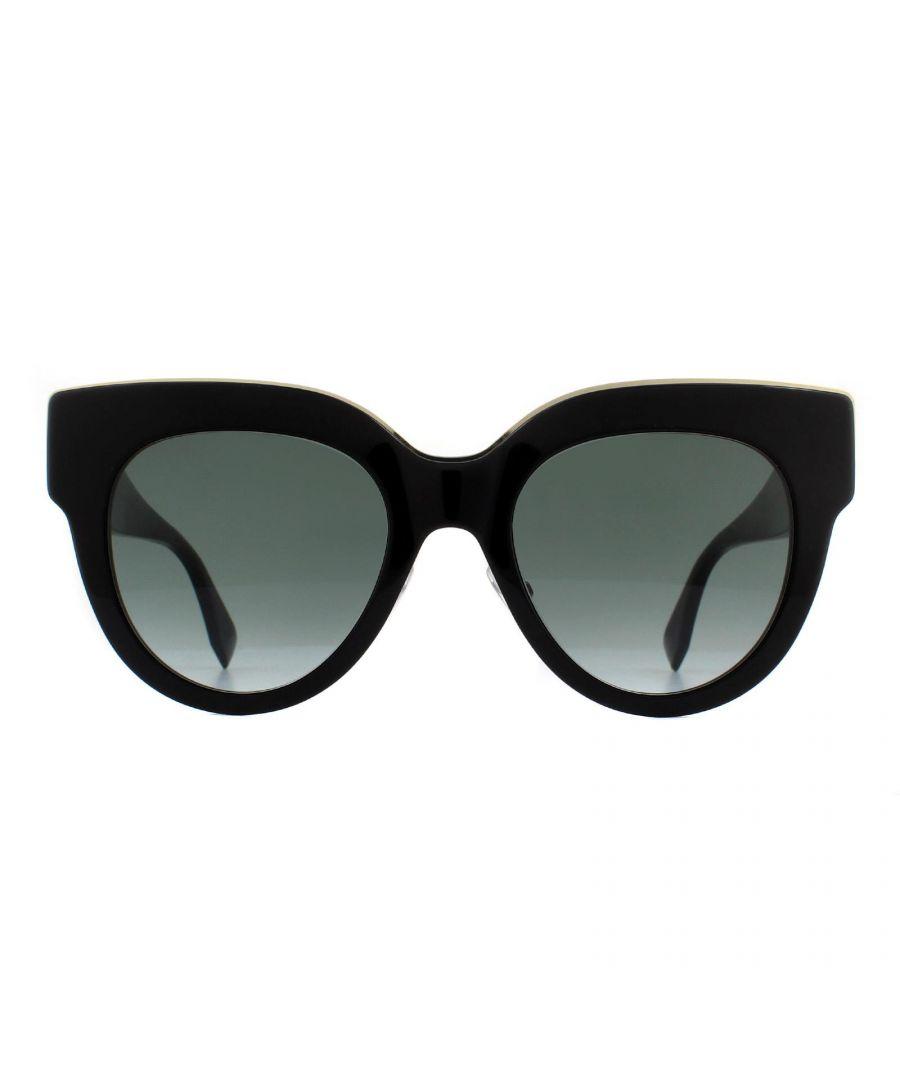 Image for Fendi Sunglasses FF 0360/G/S 807 9O Black Grey Gradient