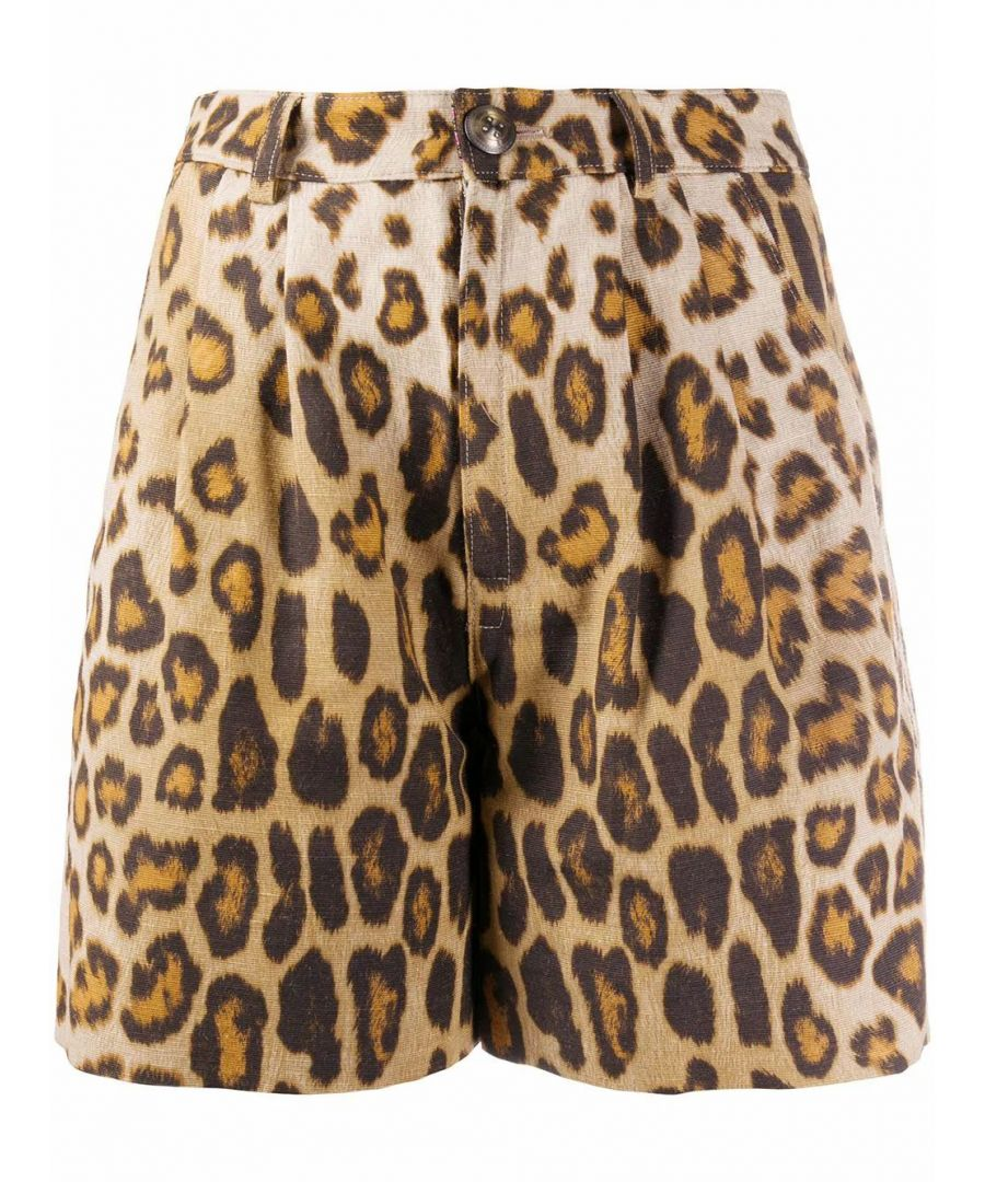 Image for ETRO WOMEN'S 1333645840800 BROWN SILK SHORTS