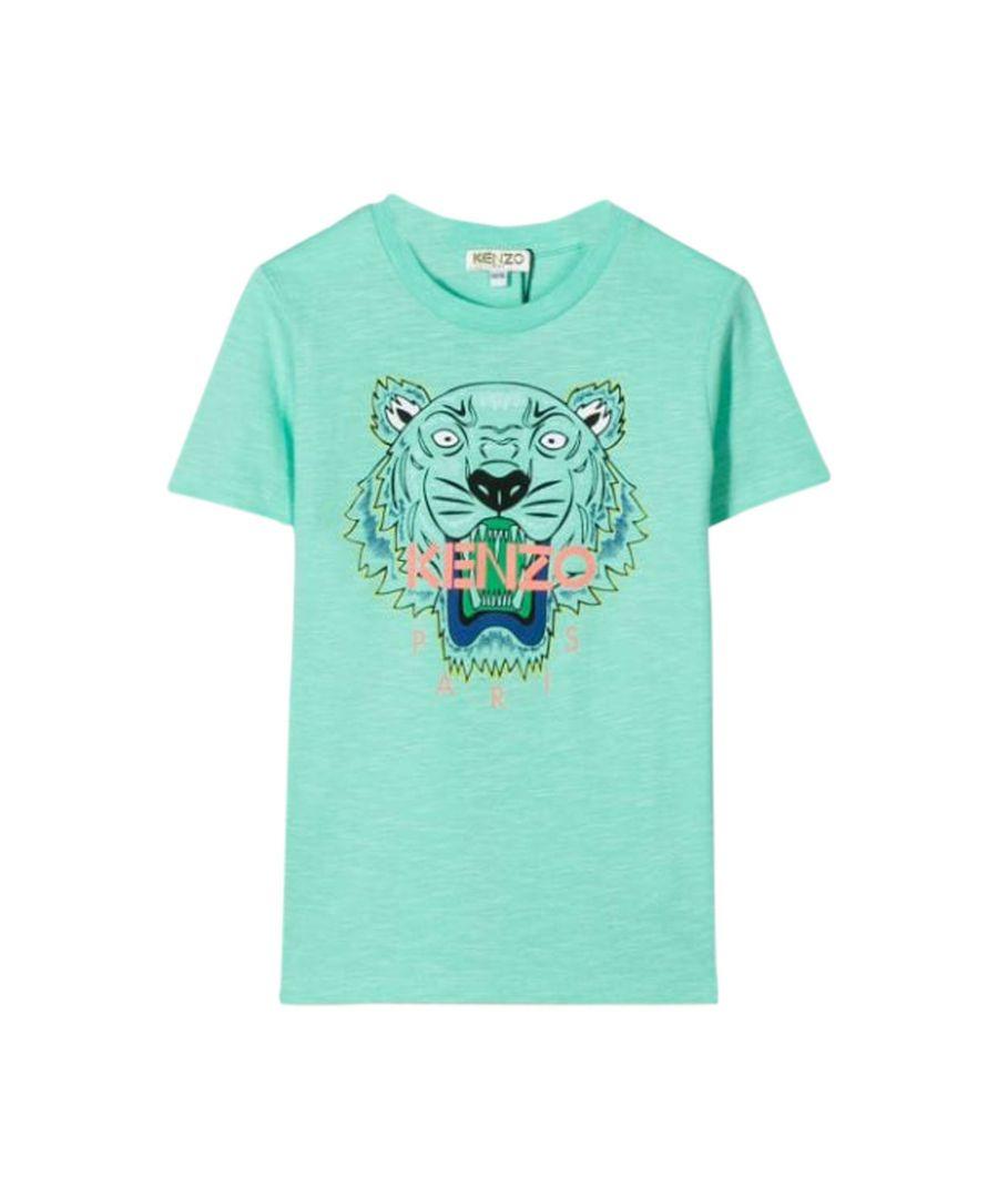 Image for KENZO GIRLS KQ1065855 GREEN COTTON T-SHIRT