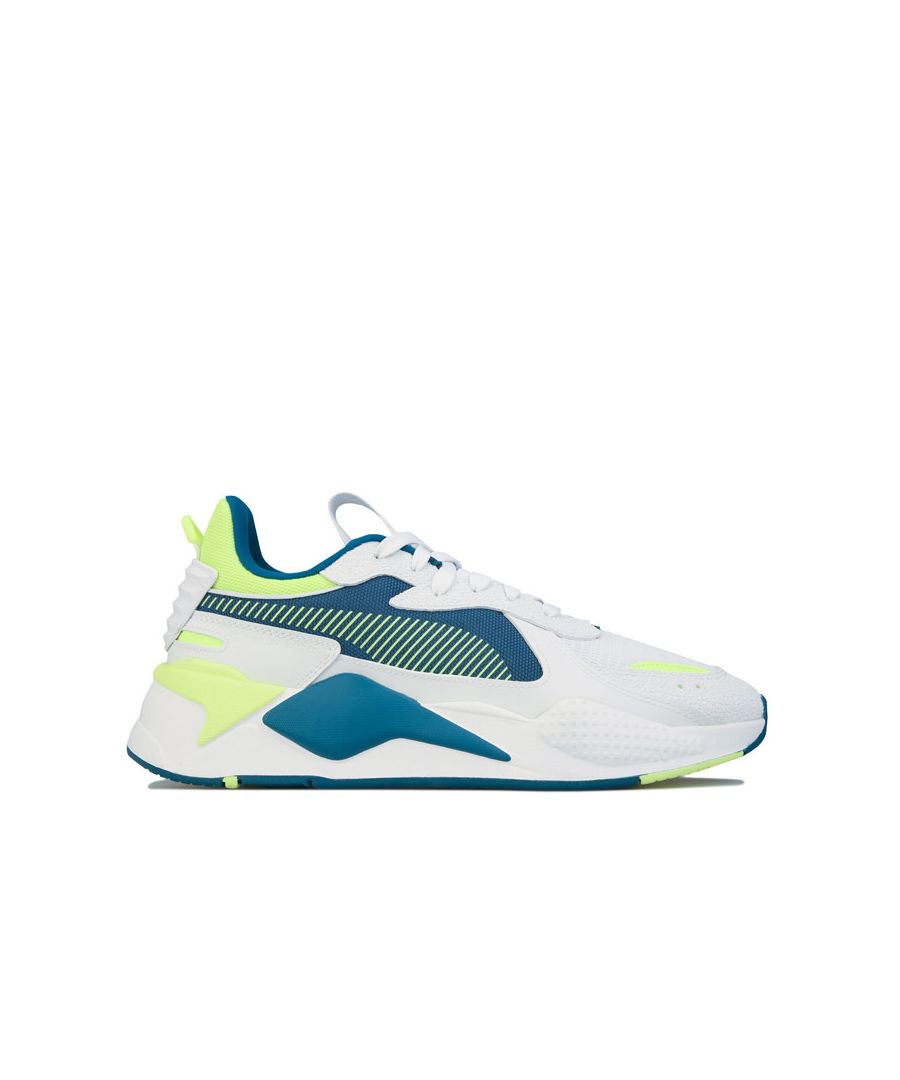 Image for Men's Puma RS-X Hard Drive Trainers in White yellow