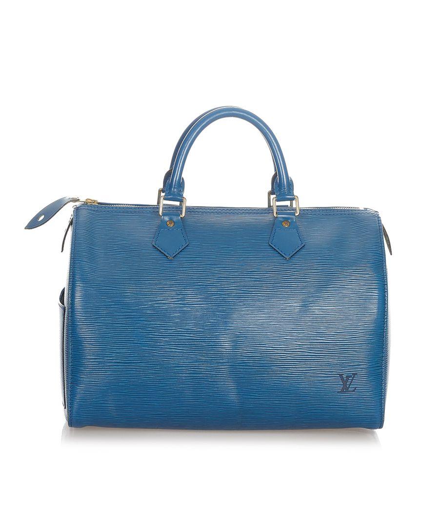 Image for Vintage Louis Vuitton Epi Speedy 30 Blue