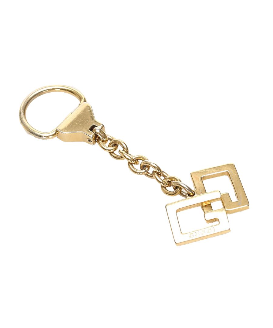 Image for Vintage Gucci GG Metal Key Chain Gold