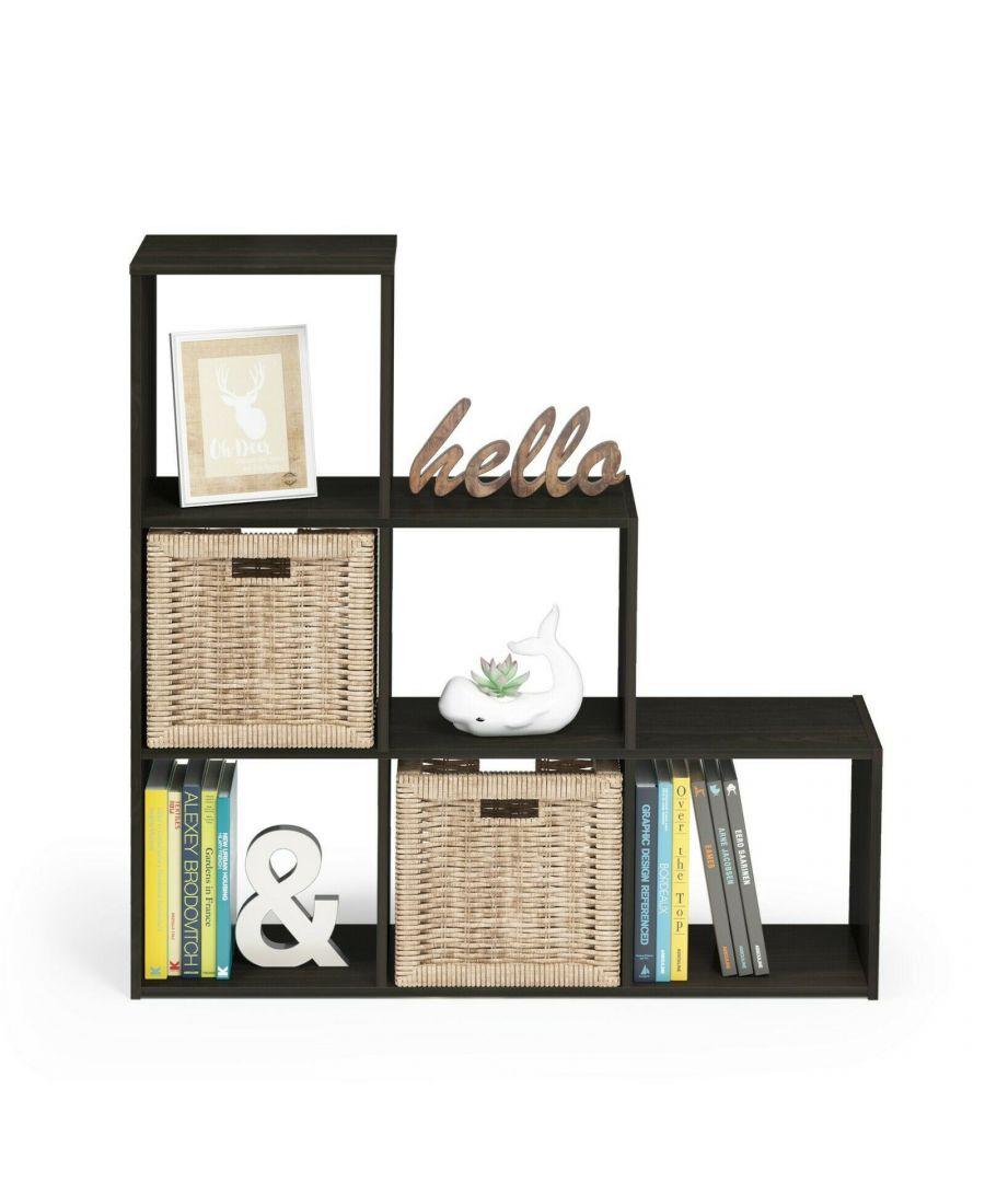 Image for Furinno Pelli Cubic Storage Cabinet, 3-2-1, Espresso