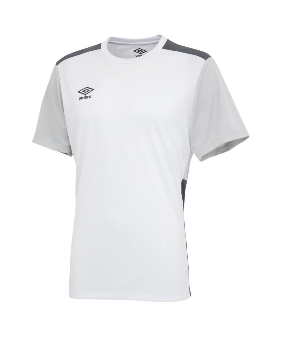 Image for Umbro Boys Polyester Training Jersey (White/High Rise Grey/Carbon Grey)