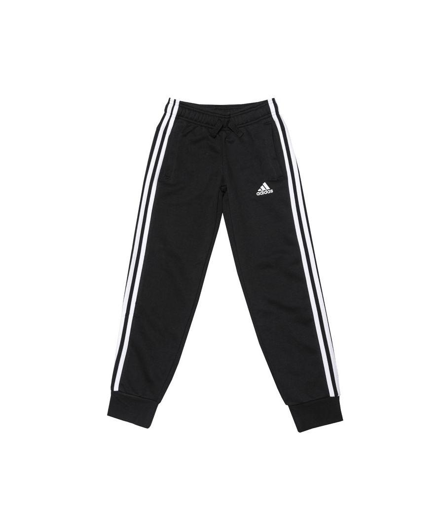 Image for Boy's adidas Junior 3S Slim Jog Pant in Black