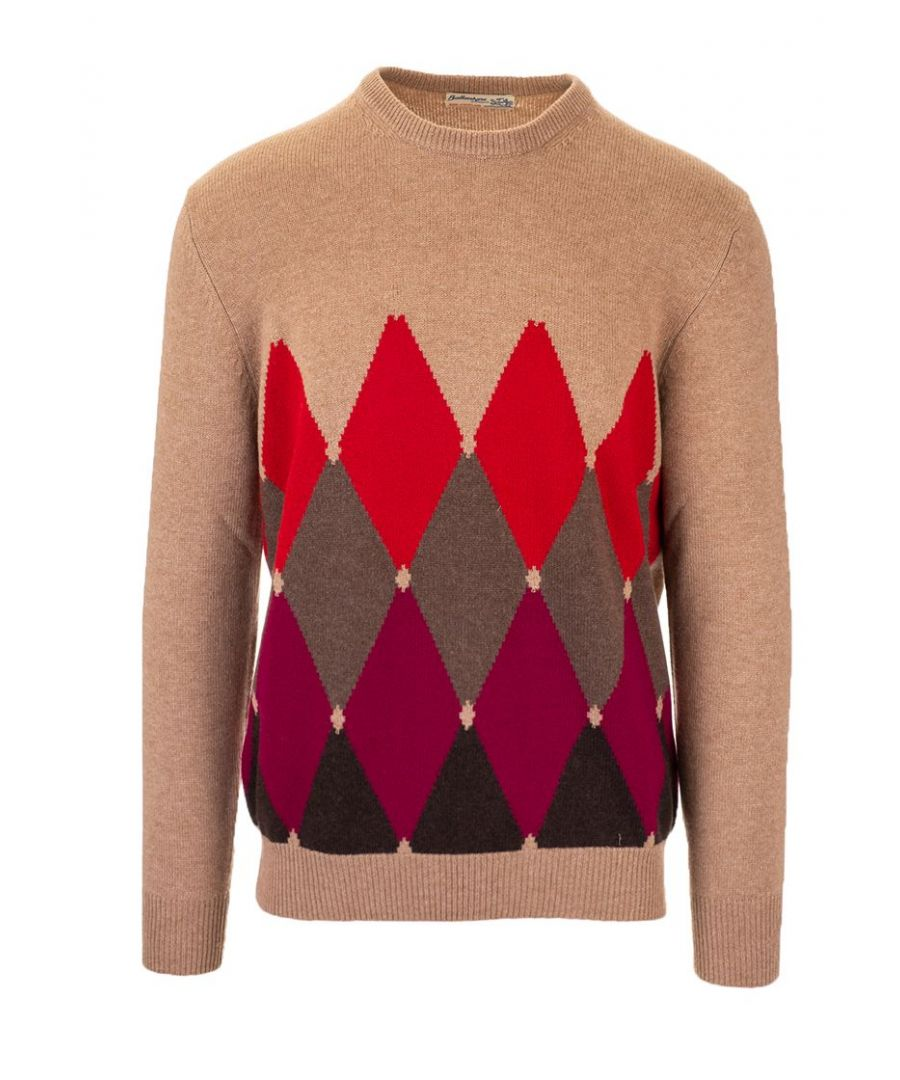 Image for BALLANTYNE MEN'S P2P0007K0A894560 BROWN CASHMERE SWEATER