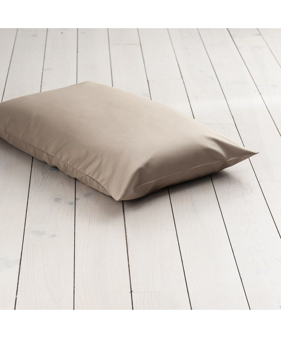 Image for 1000 Thread Count HOUSEWIFE Pillowcase  - Flax