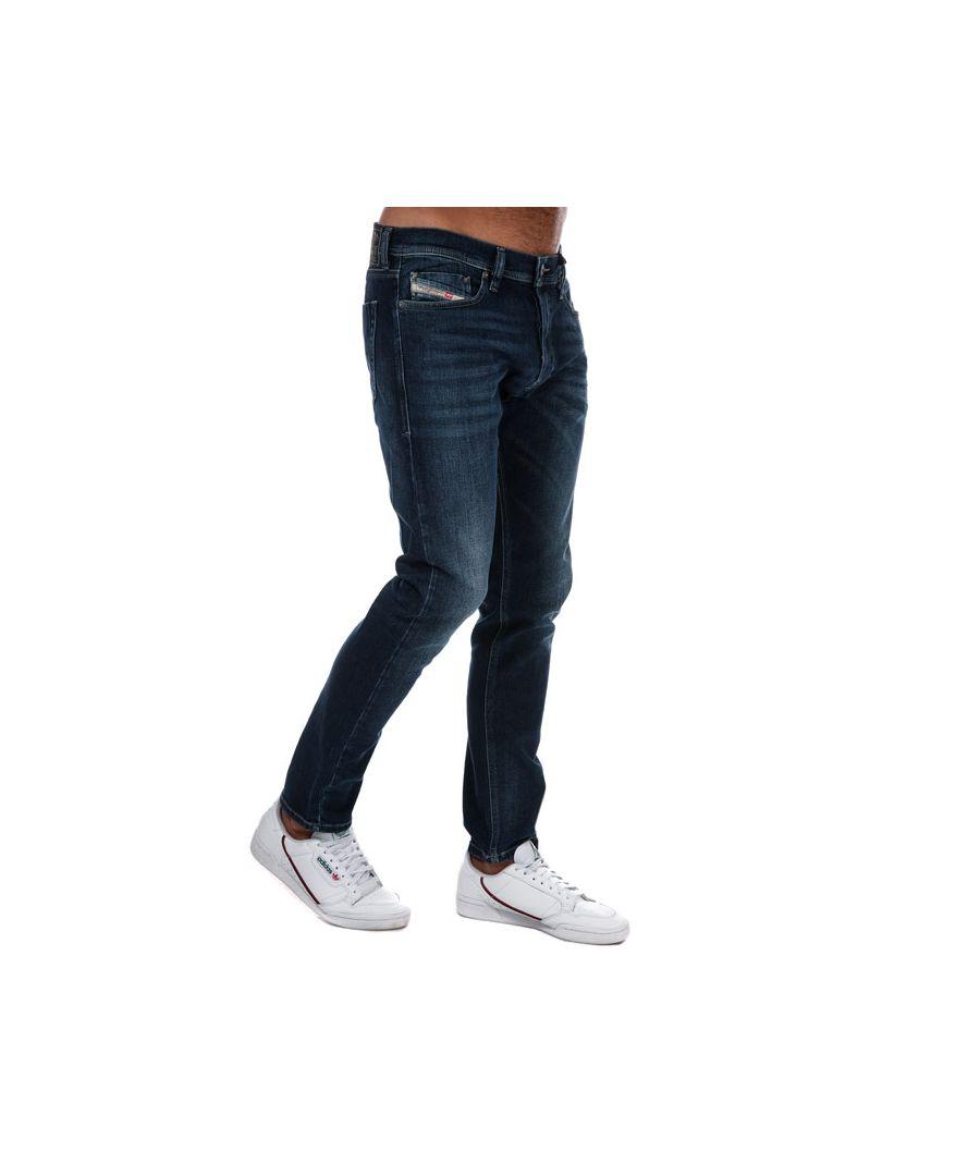 Image for Men's Diesel Tepphar Slim-Carrot Jeans in Dark Blue