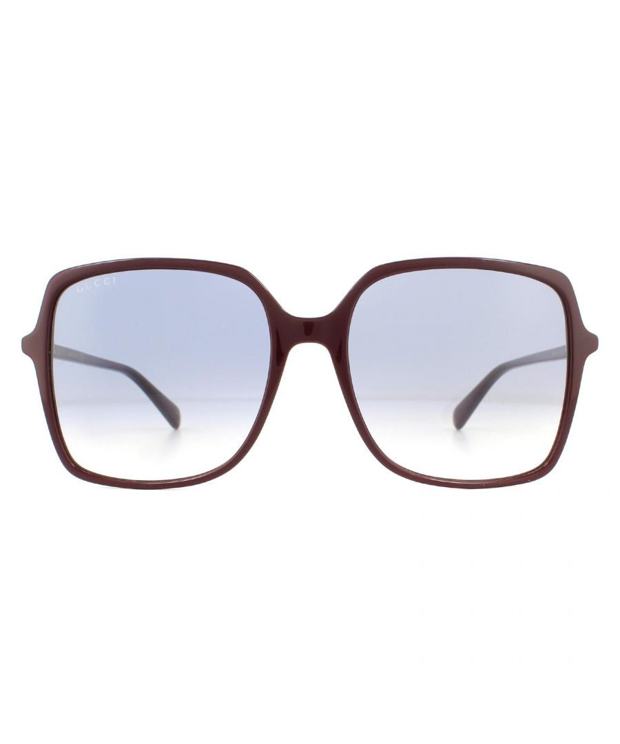 Image for Gucci Sunglasses GG0544S 003 Burgundy Blue Gradient