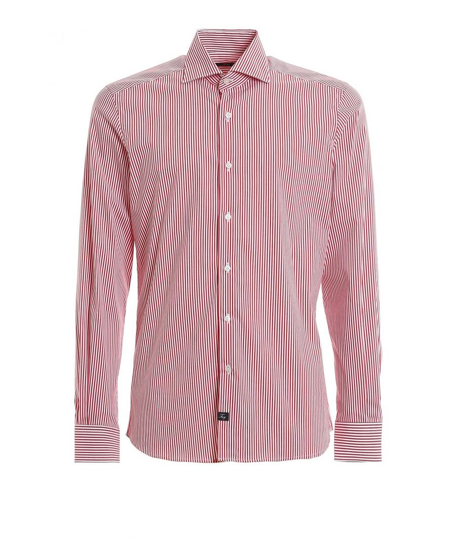 Image for FAY MEN'S NCMA140259SRSNR003 RED COTTON SHIRT