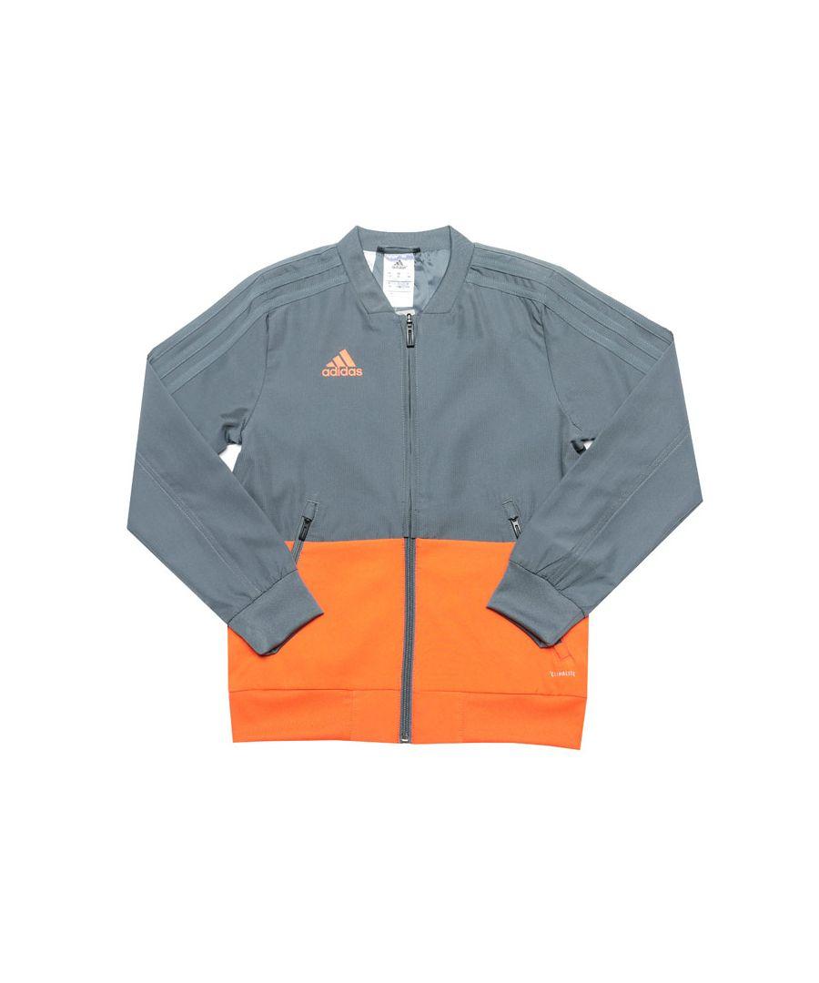 Image for Boy's adidas Junior Convido 18 Presentation Jacket in Grey