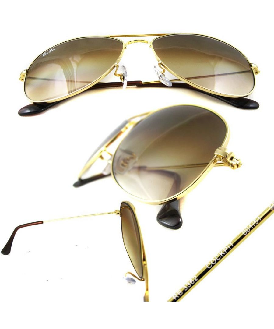 Image for Ray-Ban Sunglasses Cockpit 3362 001/51 Gold Brown Gradient 59mm