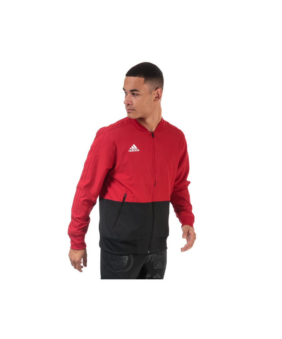 Image for Men's adidas Condivo 18 Presentation Track Top in red black