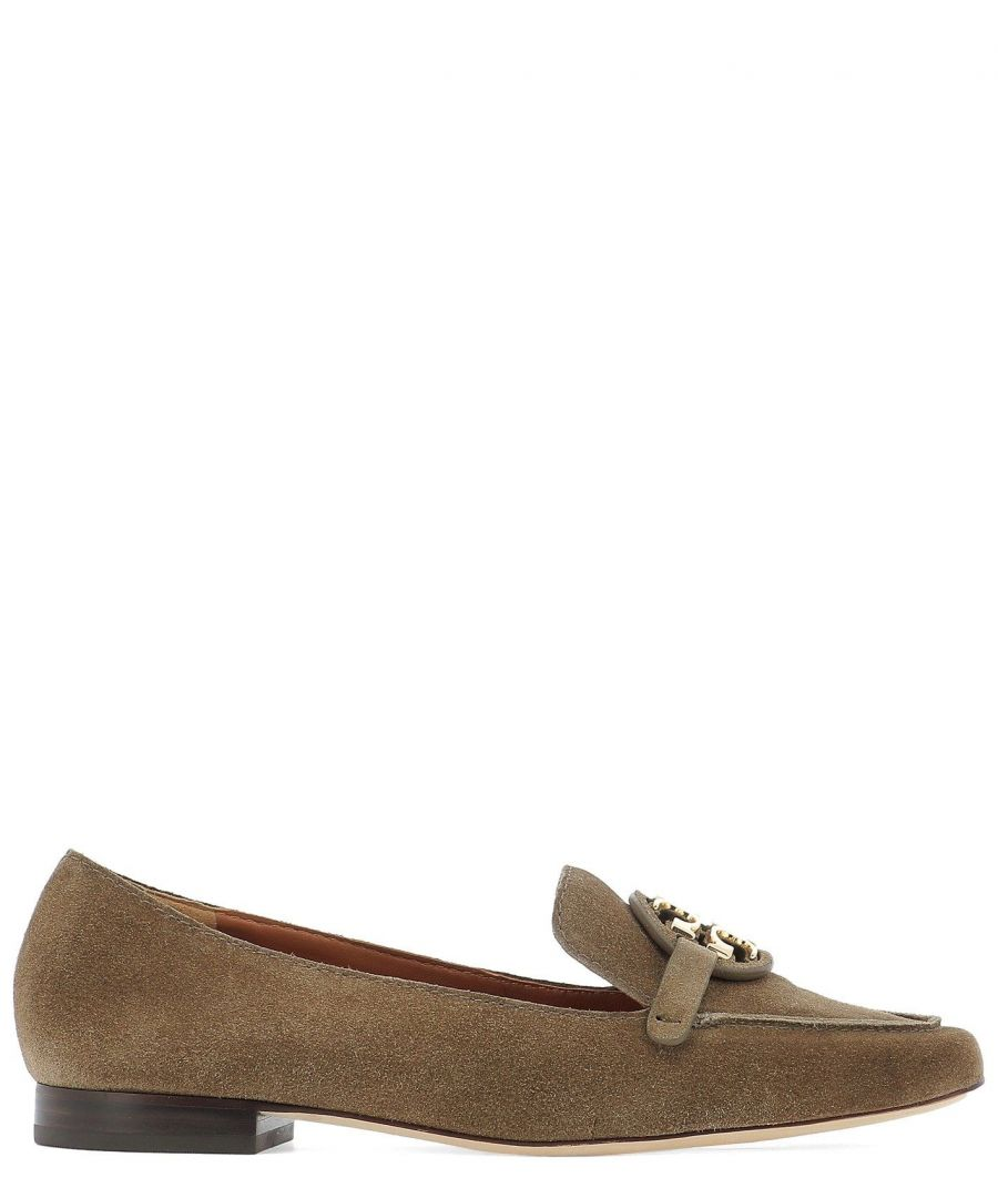 Image for TORY BURCH WOMEN'S 63250037 BROWN SUEDE LOAFERS