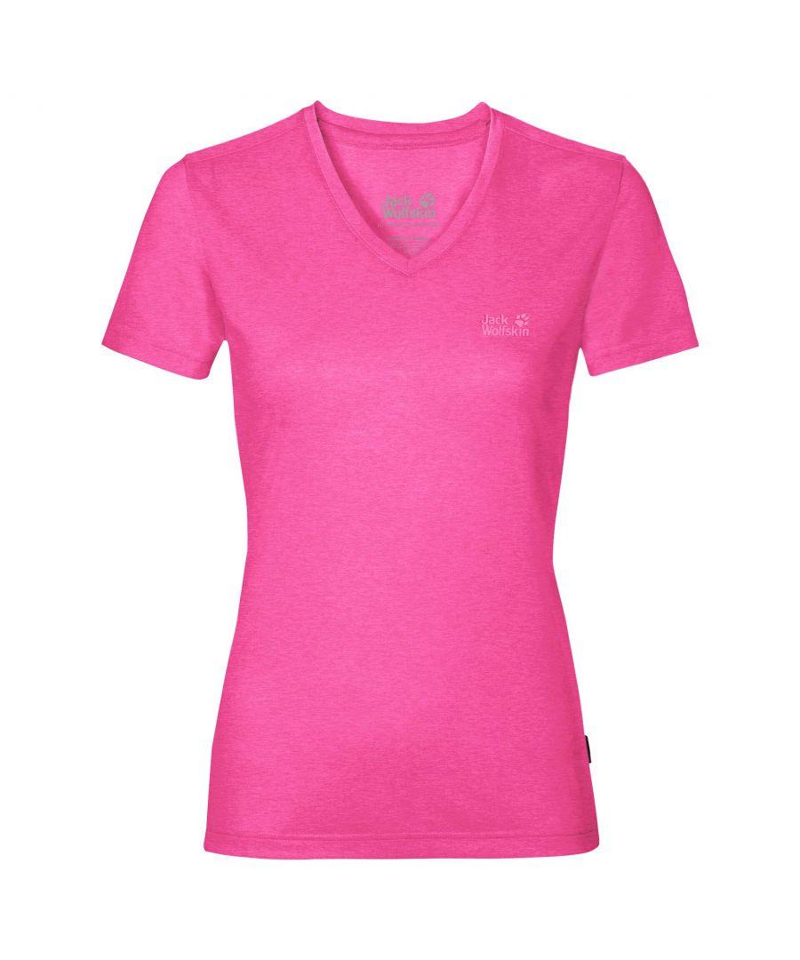 Image for Jack Wolfskin Crosstrail Womens T-Shirt Pink - S