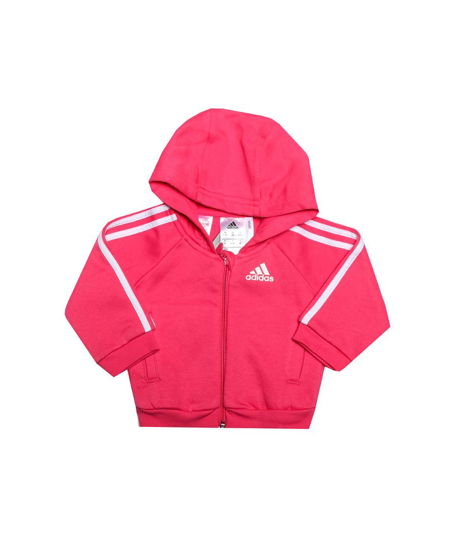 Image for Girl's adidas Baby Favourite Logo Zip Hoody in Pink