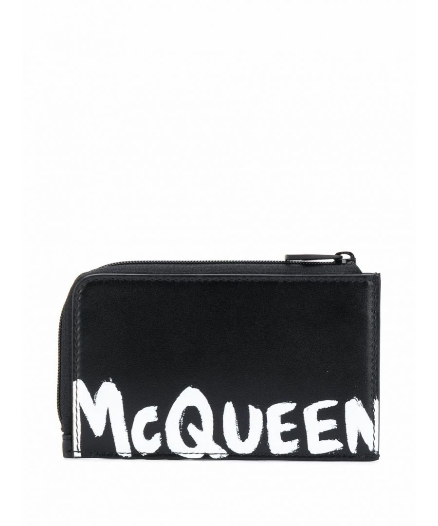 Image for ALEXANDER MCQUEEN MEN'S 6003901NT1B1070 BLACK LEATHER CARD HOLDER