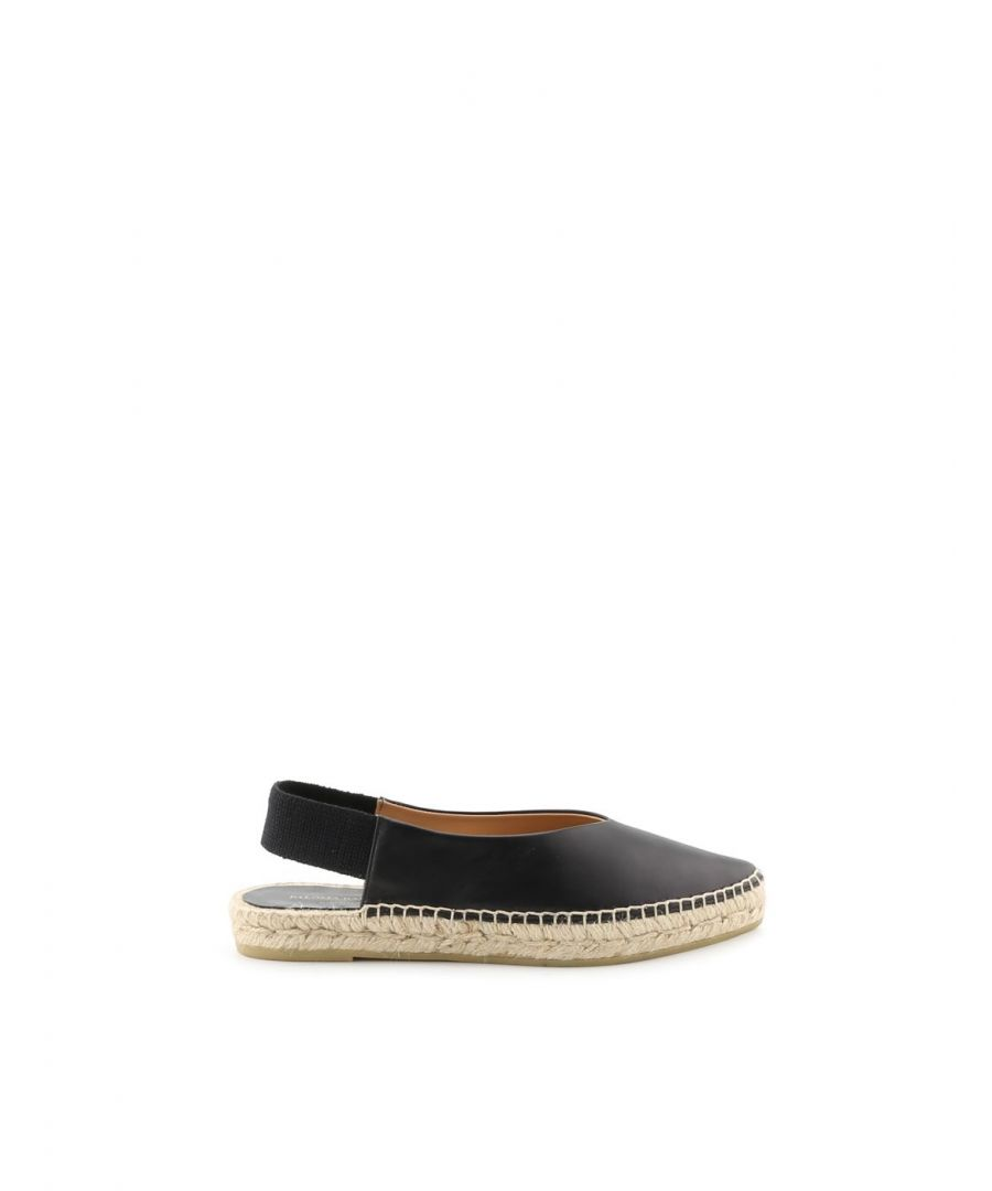 Image for PALOMA BARCELÓ WOMEN'S HABIBIBLACK BLACK LEATHER ESPADRILLES