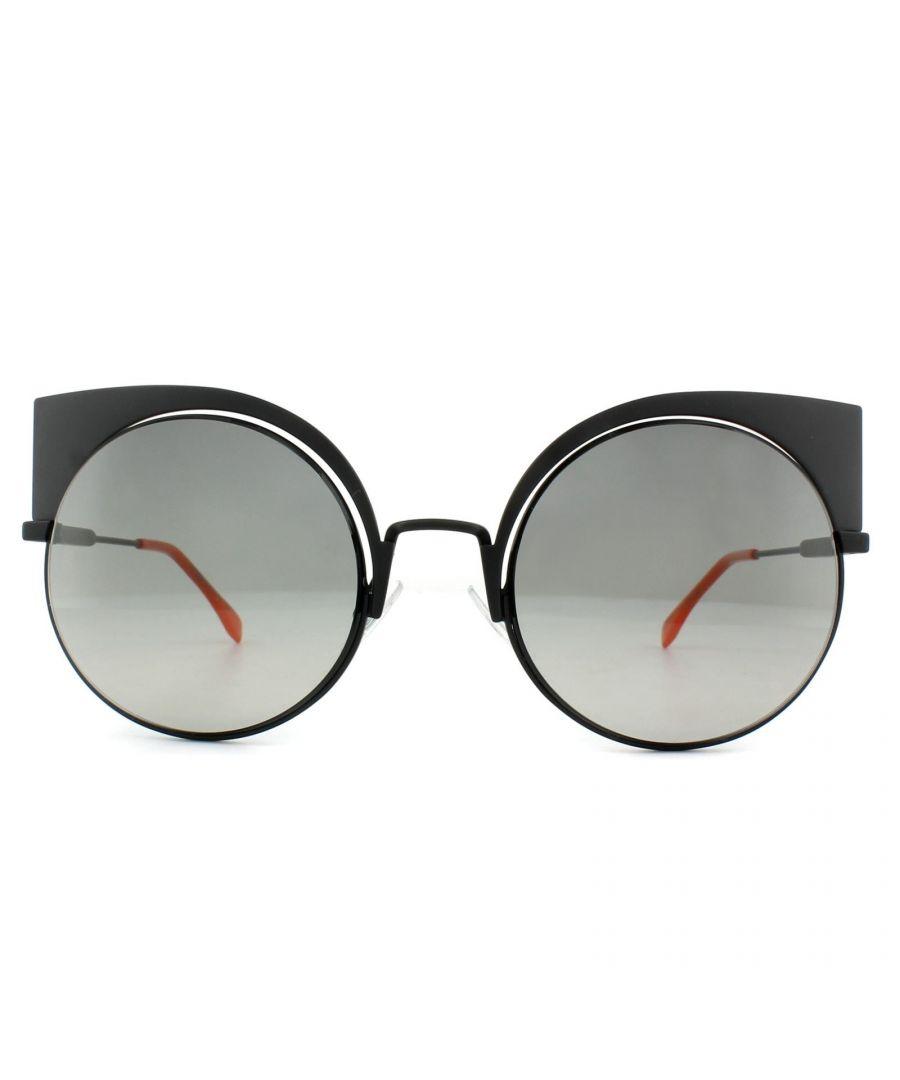 Image for Fendi Sunglasses Eyeshine FF 0177/S 003 VK Matt Black Grey Gradient