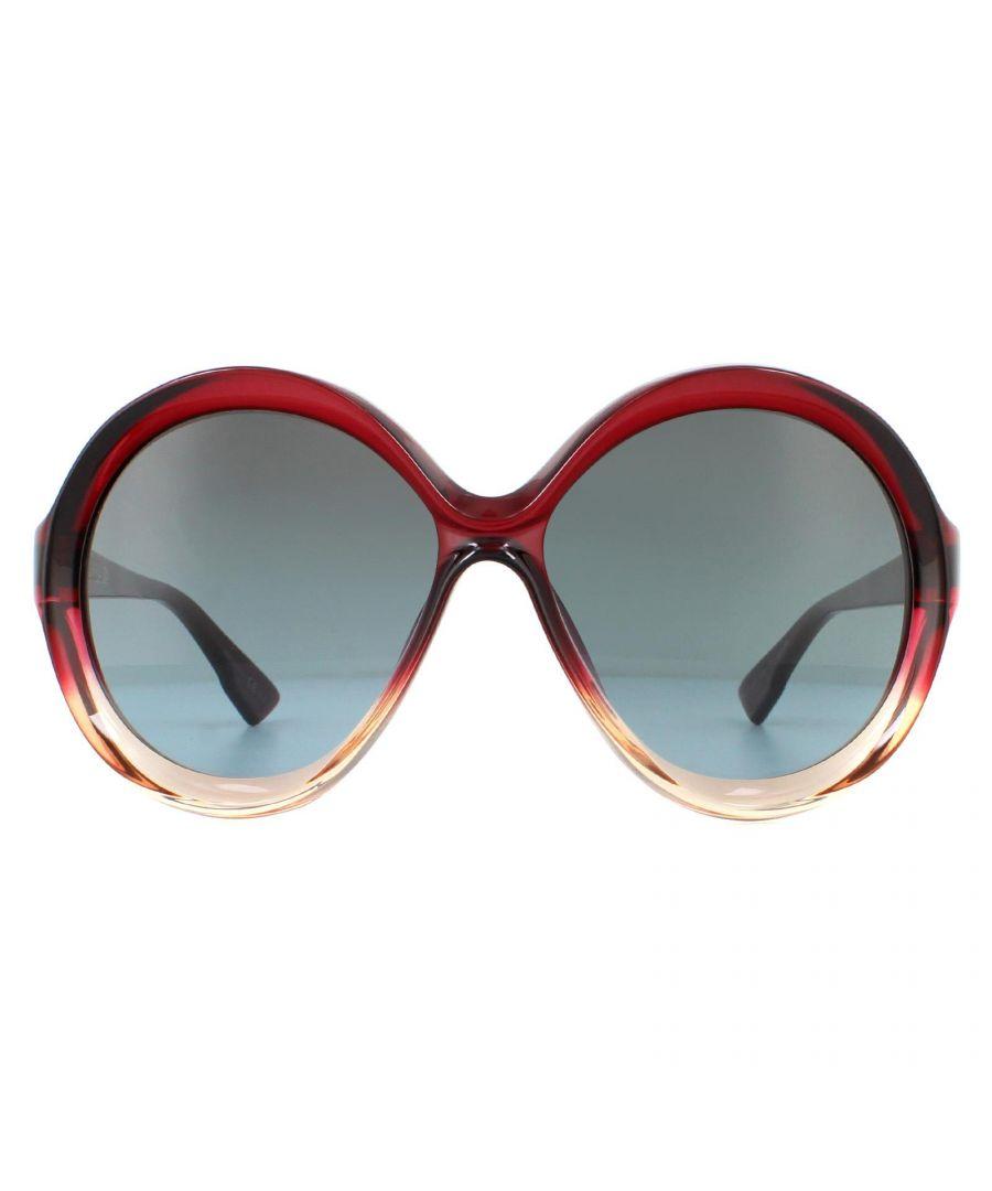 Image for Dior Sunglasses Bianca 0T5 I7 Burgandy-Pink Grey Petrol Gradient