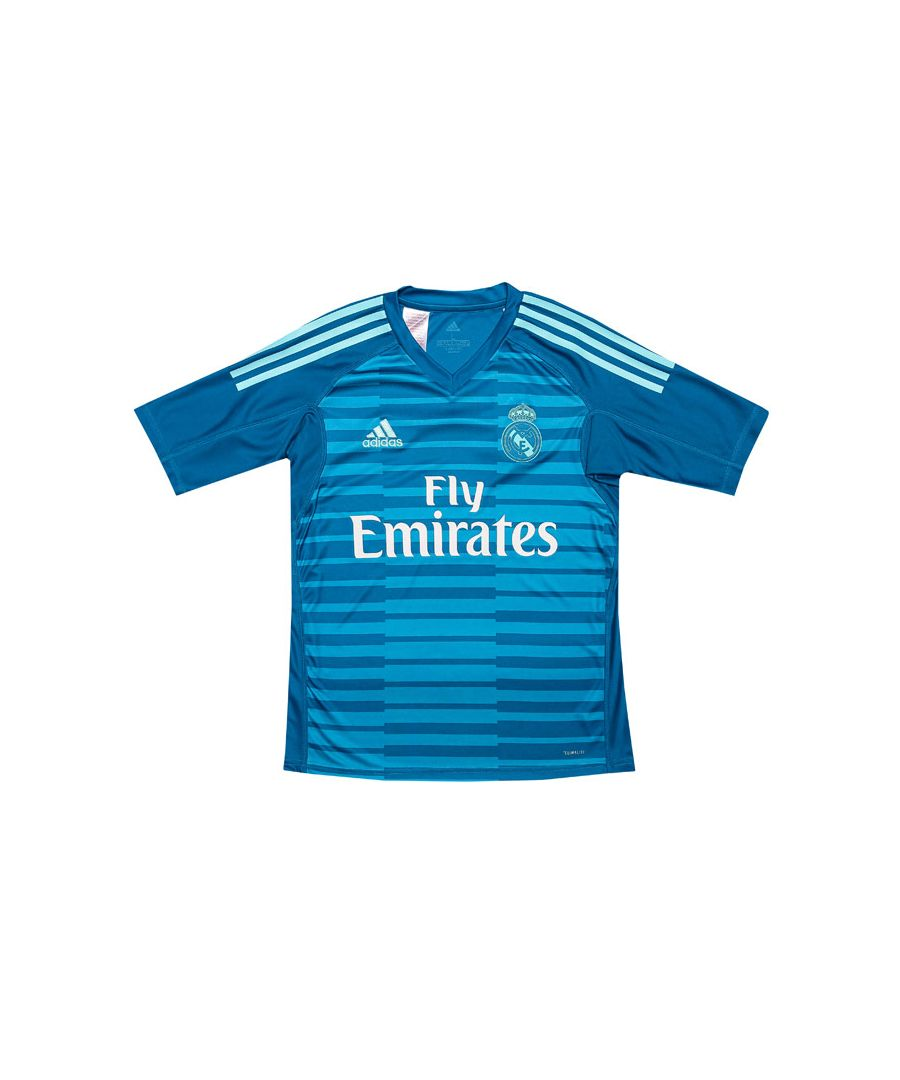 Image for Boy's adidas Junior Real Goal Keeper Shirt in aqua
