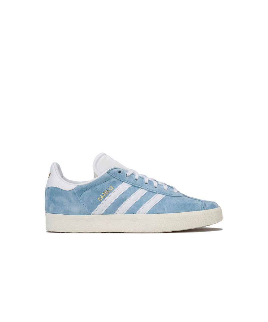 Image for Women's adidas Originals Gazelle Trainers in Grey blue