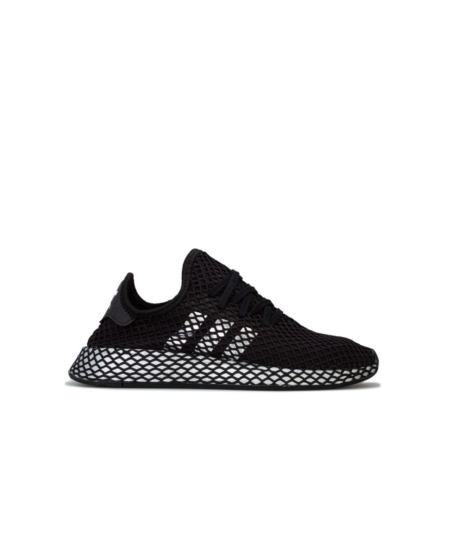 Image for Women's adidas Originals Deerupt Runner Trainers in Black Silver
