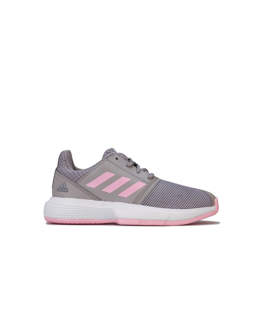 Image for Girl's adidas Children CourtJam Trainers in Grey