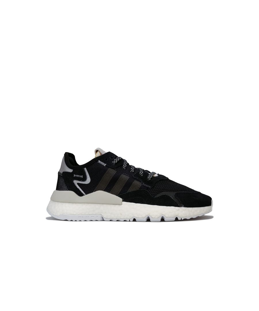 Image for Women's adidas Originals Nite Jogger Trainers in Black-White