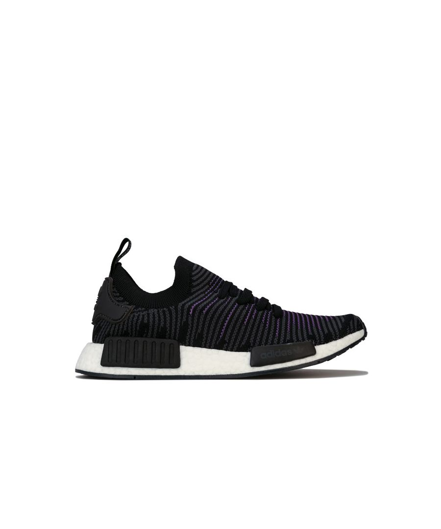 Image for Women's adidas Originals NMD_R1 Primeknit Trainers in Black