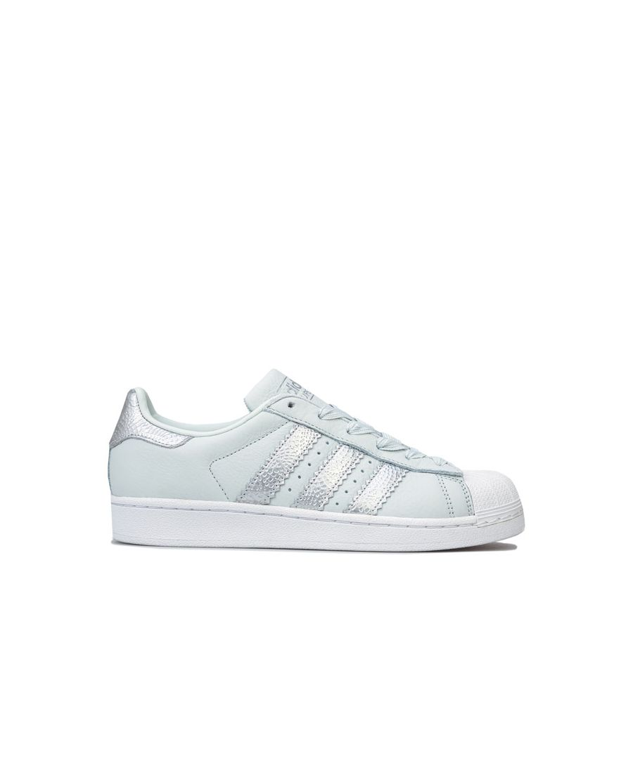 Image for Women's adidas Originals Superstar Trainers in Light Blue