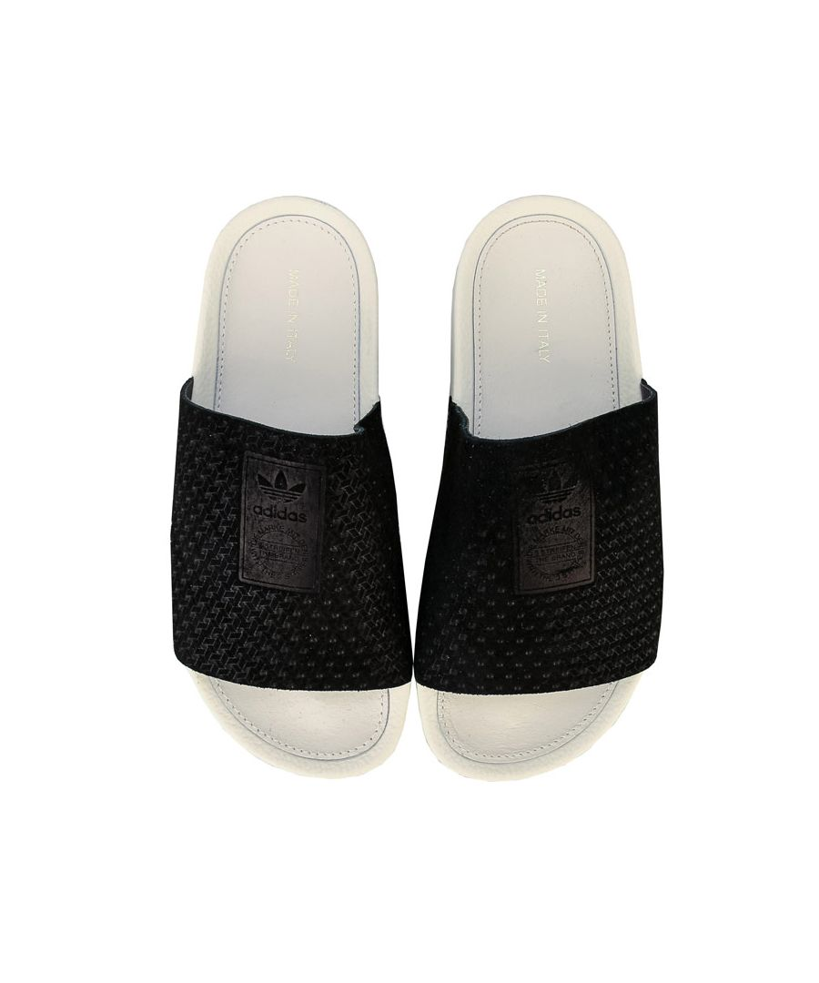 Image for Women's adidas Originals Adilette Luxe Slide Sandals in Black