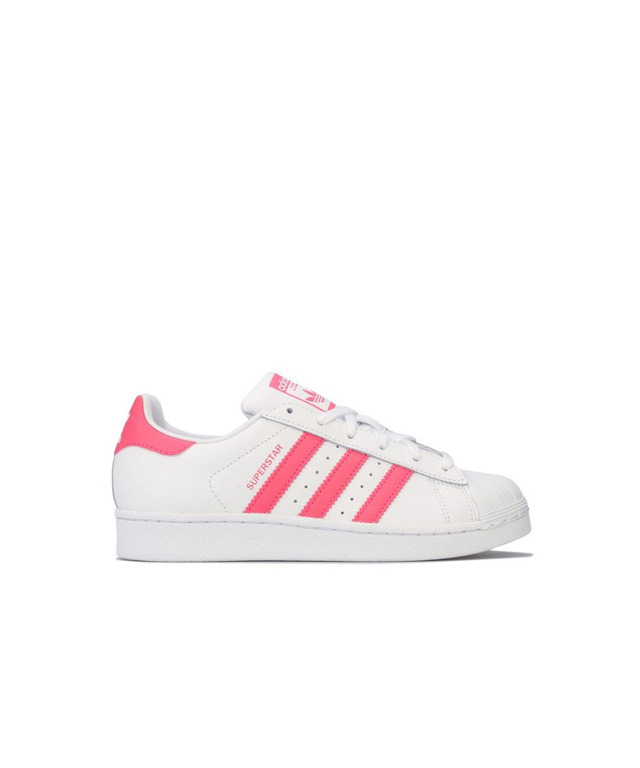 Image for Girl's adidas Originals Junior Superstar Trainers in White